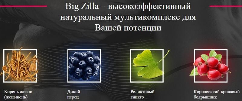 Состав капель для потенции Big Zilla