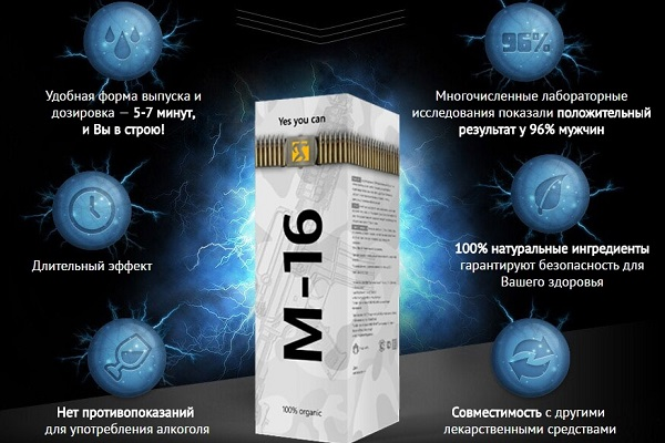 Спрей M16 - эффективное средство для повышения потенции у мужчин