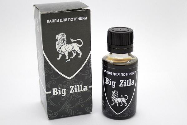 Капли Big Zilla для усиления мужской силы (быстродействующие)