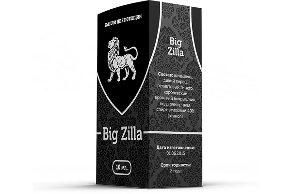 BIG ZILLA - препарат для повышения потенции у мужчин гипертоников