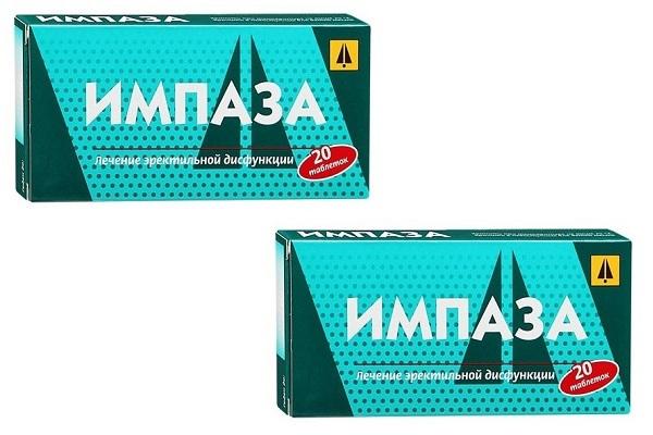 Две упаковки Импаза для потенции
