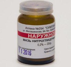 Нитроглицериновая мазь — применение для восстановления потенции