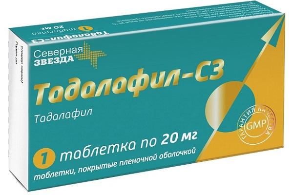 Тадалафил от Северной Звезды 20 мг
