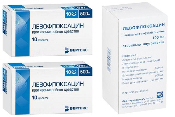 Таблетки и раствор для инфузий Левофлоксацин