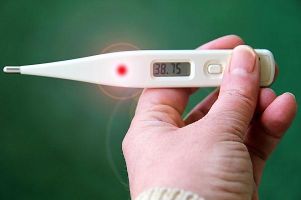 Высокая температура у мужчины