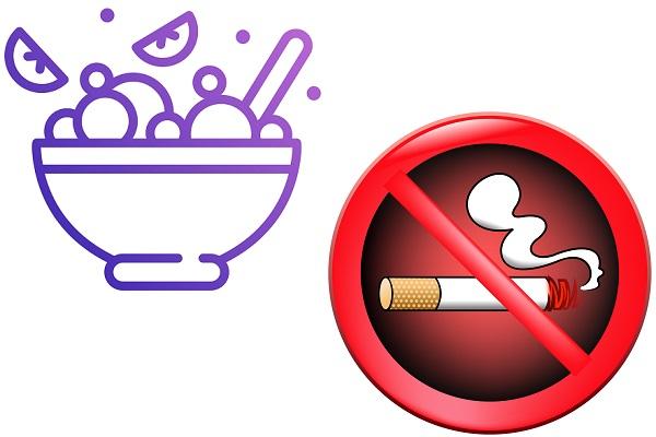 Правильное питание и отказ от вредных привычек