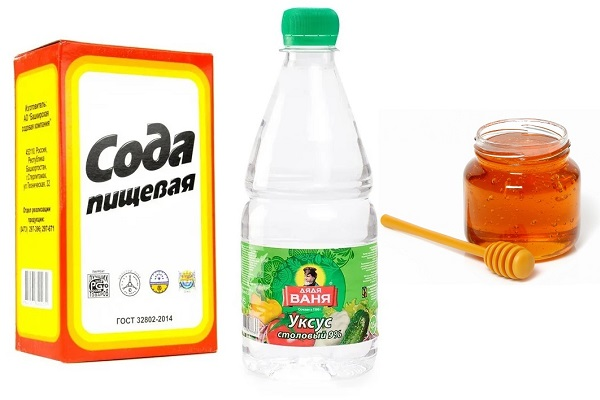 Сода с уксусом и медом
