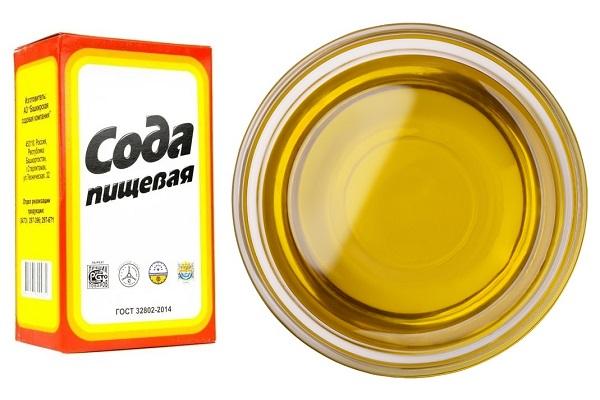 Пищевая сода и оливковое масло